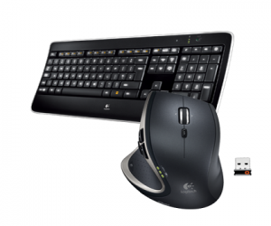 Illuminated Keyboard K800 & Performance Mouse MX