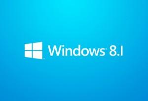 Logo di Windows 8.1 bianco su sfondo blu