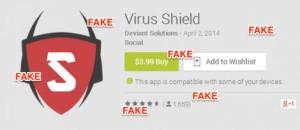 virus shield fake android app