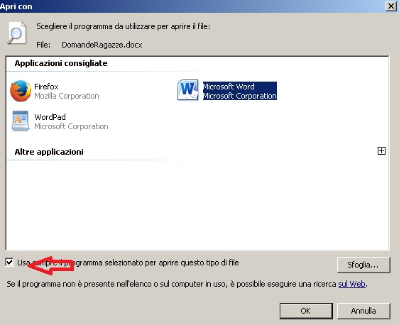 Modificare i programmi predefiniti su Windows 7