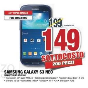 Samsung galaxy s3 neo prezzo comet
