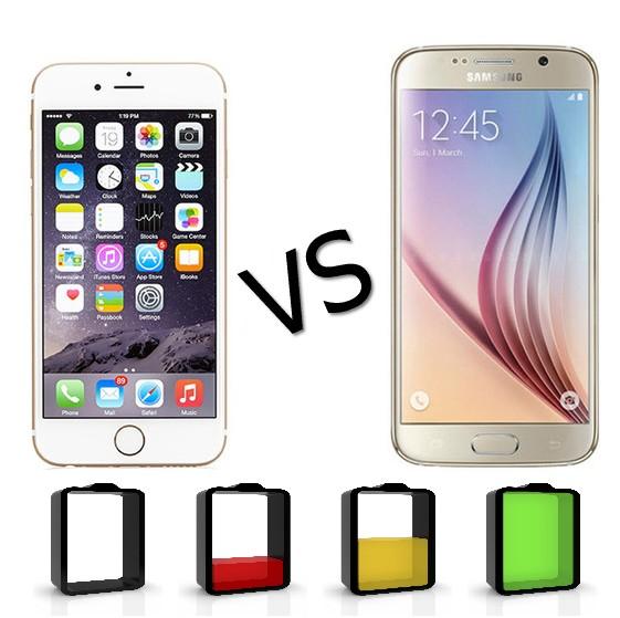 Galaxy S6 vs iPhone 6S batteria e prezzo