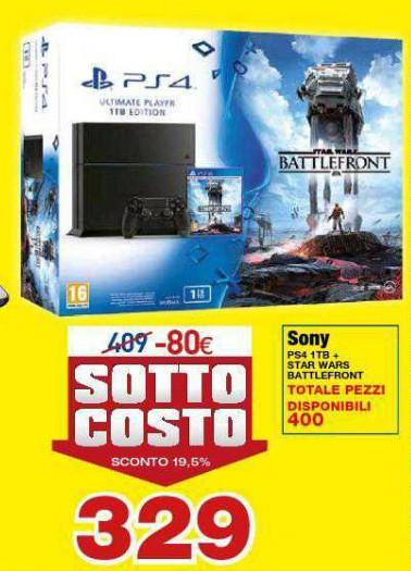 Sony playstation 4 offerta a prezzo sottocosto i for Mediaworld lavatrici slim