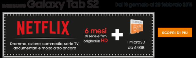 Galaxy Tab S2 Netflix gratis