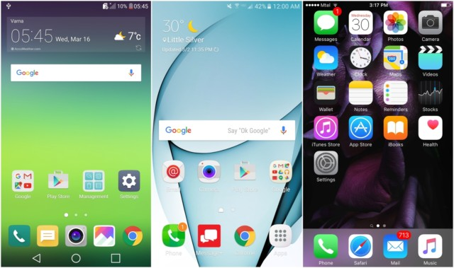 iPhone 6s vs LG G5 vs Galaxy S7: prezzo e interfaccia