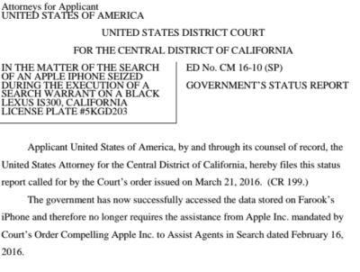 iPhone 5c sbloccato dall'FBI