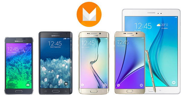 Galaxy S5 Note 4 Galaxy Tab S2 Marshmallow