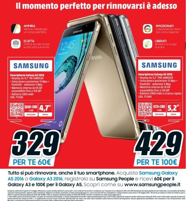 Galaxy A3, Galaxy A5 rimborso prezzo