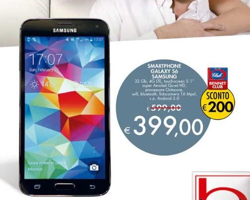 Galaxy S6 i migliori prezzi volantini