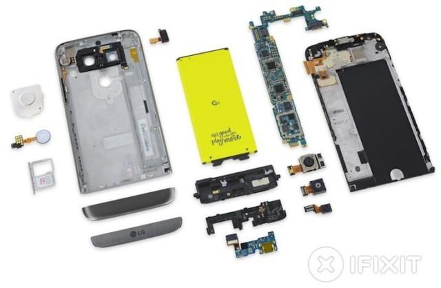 LG G5 facile da riparare come LG G4