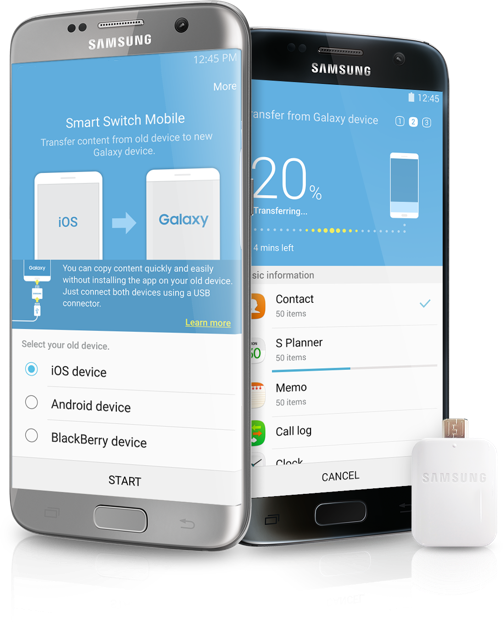 Galaxy S7, S6: da iPhone, BlackBerry, Android