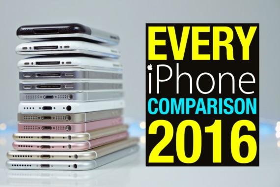 iPhone 6S, 6, Se fino ad iPhone 2G comparativa