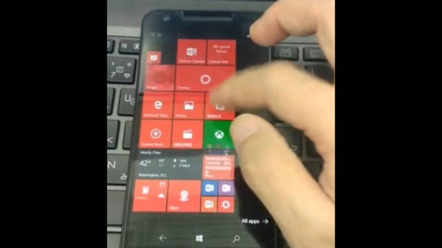 Nexus 5X con Windows 10 Mobile