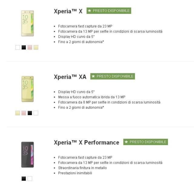 Sony Xperia X prenotazioni