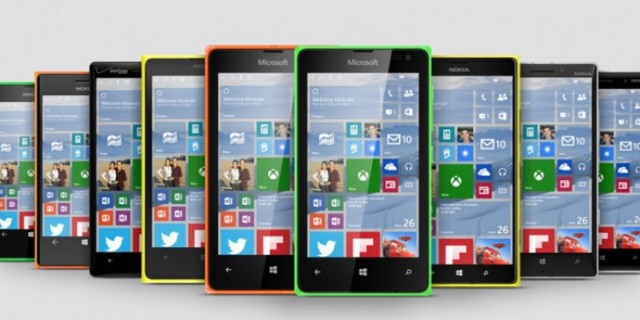 Windows 10 Mobile aggiornamento