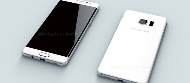 Samsung Galaxy Note 7, nuovi render: display dual edge e scansione dell'iride?
