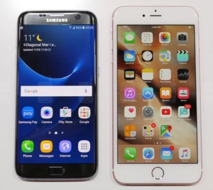 Galaxy S7 Edge e iPhone 6S AnTuTu