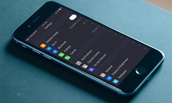 Dark mode iPhone 7