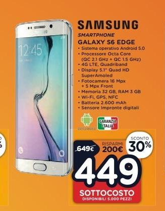 Samsung s6 edge prezzo mediaworld