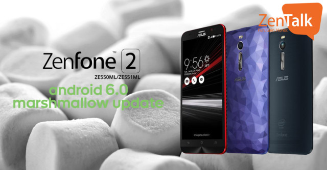 Zenfone 2 ZE551ML Android Marshmallow