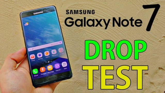 Galaxy Note 7 drop test