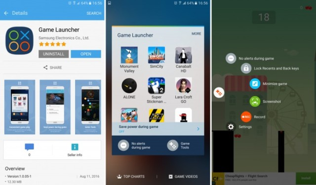 Galaxy S6 Game Launcher e Game Tools