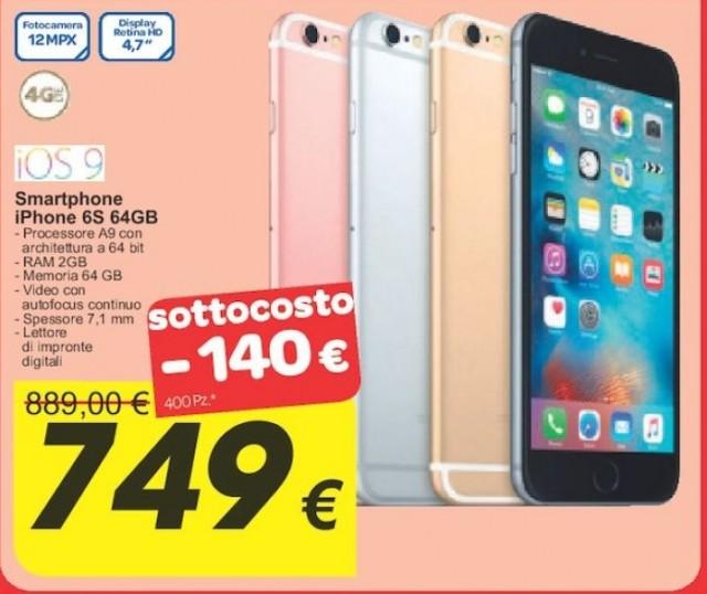 Iphone 6s 64gb ricondizionato prezzo