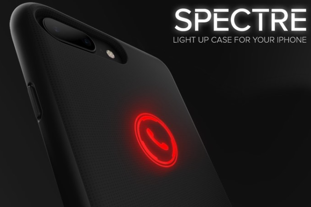 Spectre per iPhone 7 e iPhone 7 Plus, la cover elegante che si illumina