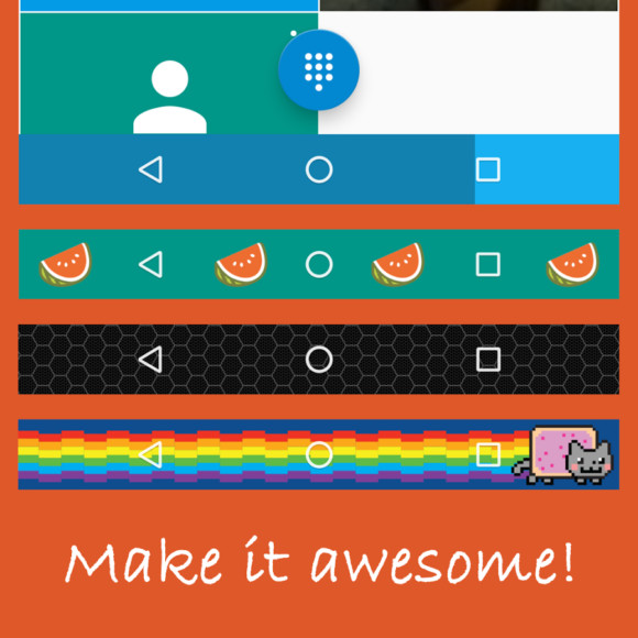 Barra di navigazione Android personalizzabile