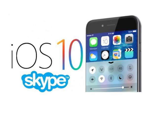 Skype su iOS 10 si aggiorna