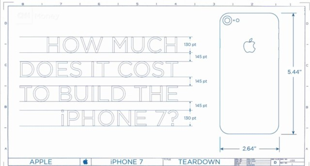 IPhone 7: ad Apple i componenti costano circa 220 dollari