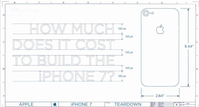 iPhone 7 stima costi produzione