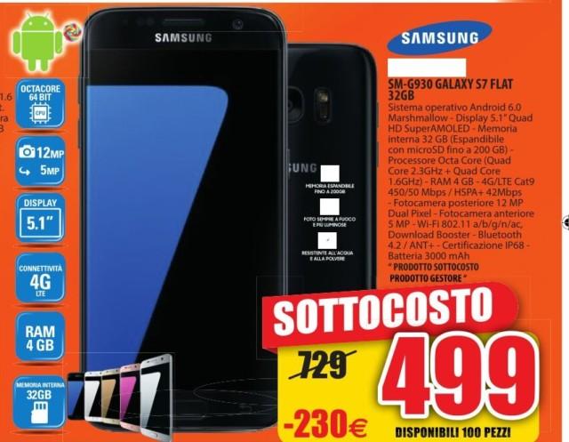 Galaxy s7 da 32gb al prezzo sottocosto di 499 euro fino al for Di lella expert volantino