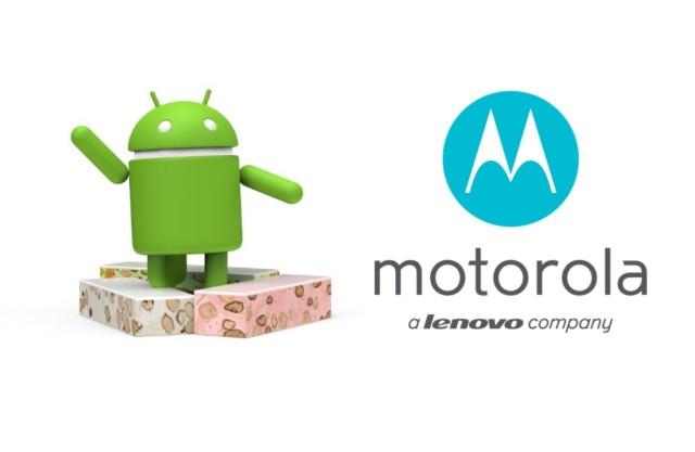 Motorola aggiornamento Android Nougat