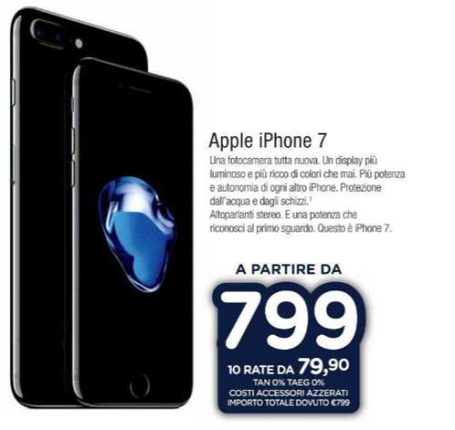 IPHONE 7 PLUS PREZZO UNIEURO