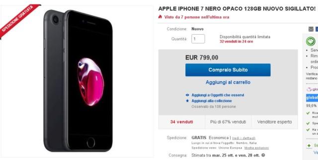 iPhone 7 128 prezzo più basso
