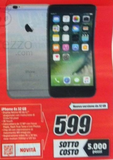 Iphone 6s 64gb nuovi prezzi bassi