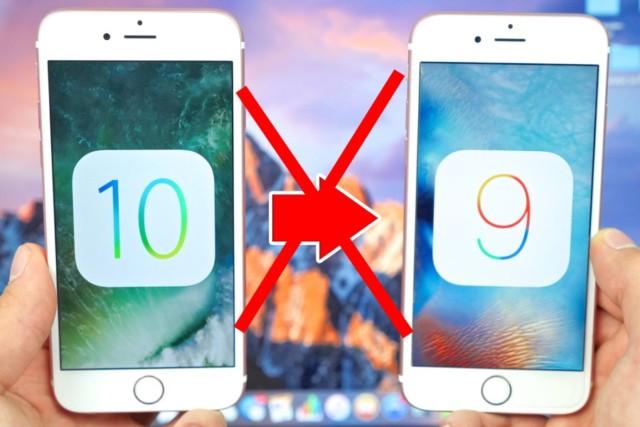 Downgrade iOS 10 non più possibile