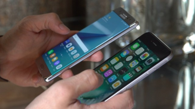iPhone 6S e Galaxy Note 7