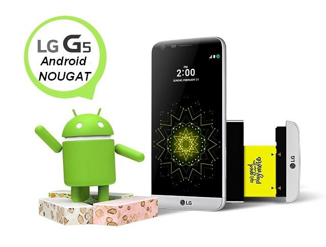LG G5 Android Nougat Italia