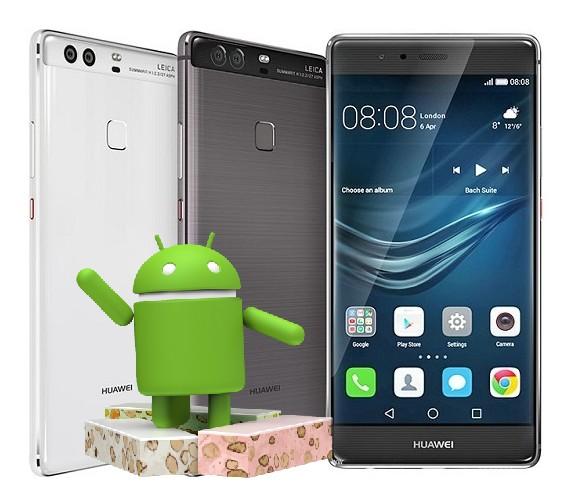 Huawei P9, Nova, Mate 8 Android Nougat