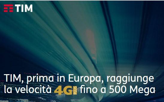 TIM presenta la rete 4.5G, fino a 500 Mbps in mobilità