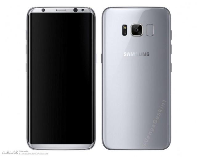 Galaxy S8 immagine render ufficiosa