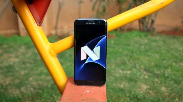 Galaxy S7 Edge Android Nougat Francia