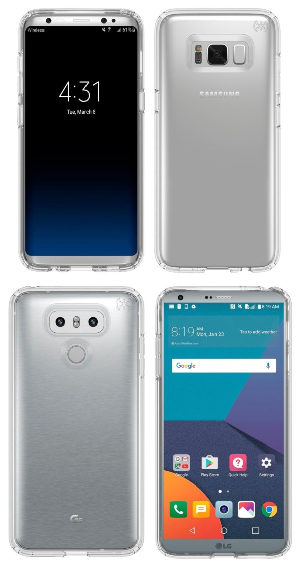 LG G6 e Galaxy S8 data commercializazione