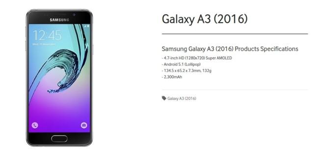 Galaxy A3 2016 sottocosto marzo