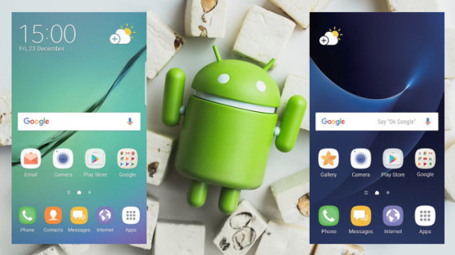 Galaxy S6 Android Nougat differenze Galaxy S7