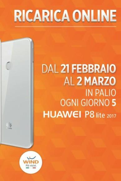 Huawei P8 Lite 2017: lo puoi vincere con una ricarica Wind