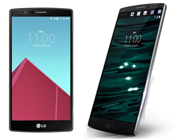 LG G4 e LG V10 aggiornamento Nougat