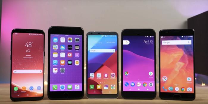 Galaxy S8 e LG G6 battuti da iPhone 7 Plus nel test velocità